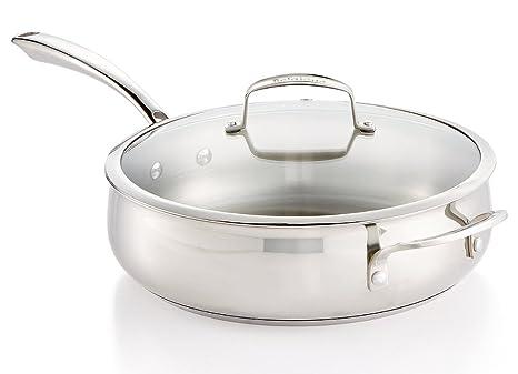 Buy Belgique Stainless Steel 5-Qt  Sauté Pan with Lid Online