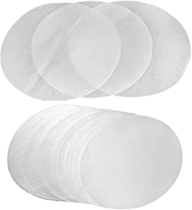 (Set of 200) Parchment Paper 7 inch Diameter Round Non-Stick Baking Paper Liners Cake Pans Circle Cookies Cheesecake Deep Dish Pizza