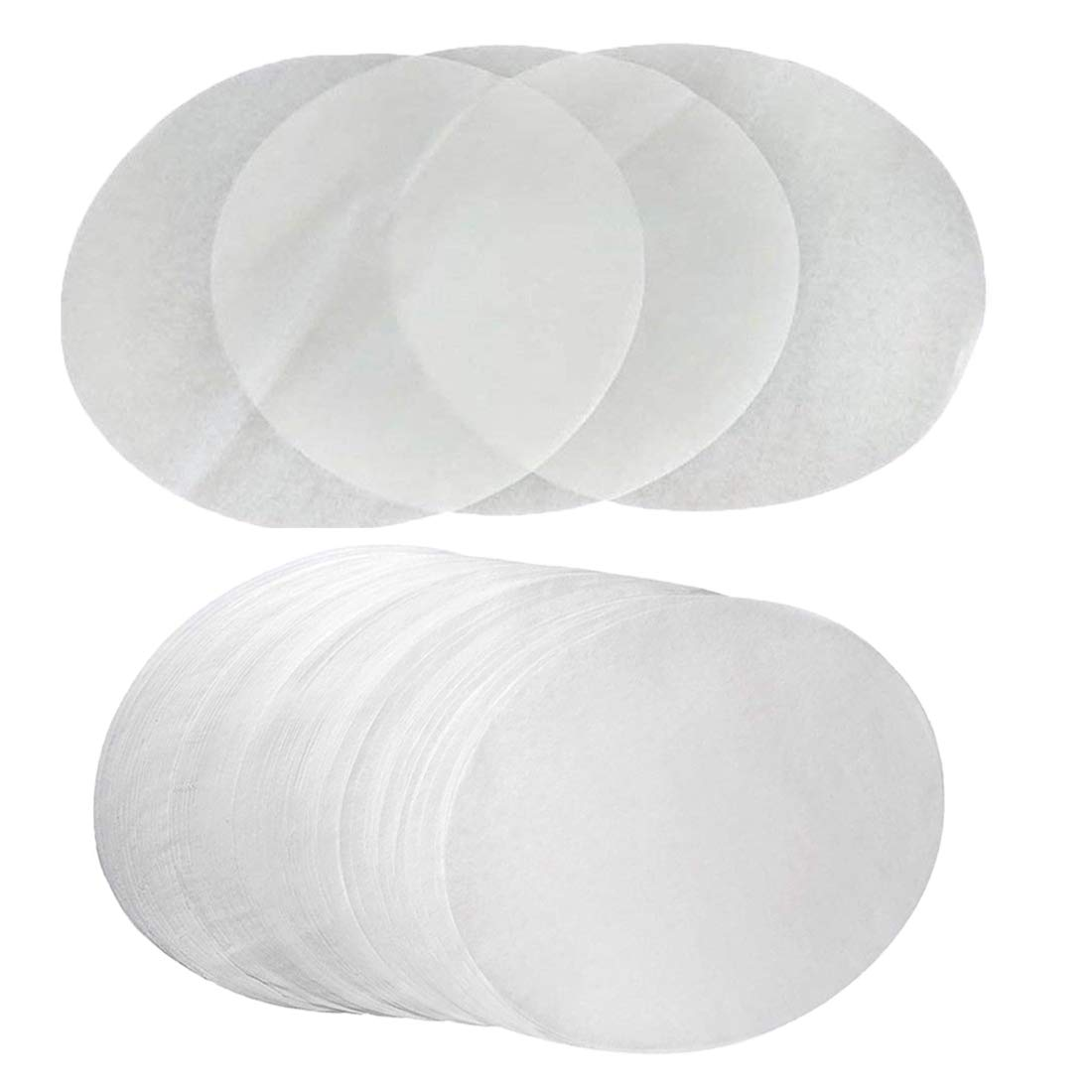(Set of 200) Parchment Paper 9 Inch Diameter Round Non-Stick Baking Paper Liners for Cake Pans Circle Cookies Cheesecake and Deep Dish Pizza LQQDD