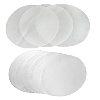 (Set of 100) Non-Stick Round Parchment Paper 8 Inch Diameter, Baking Paper Liners for Round Cake Pans Circle Cookies Cheesecake
