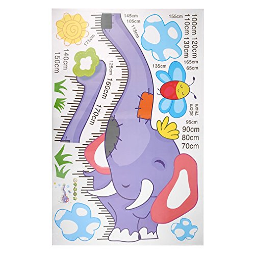 - YCDC Elephant Removable Decor Wall Sticker/Decal Kid Child Height Chart Measure
