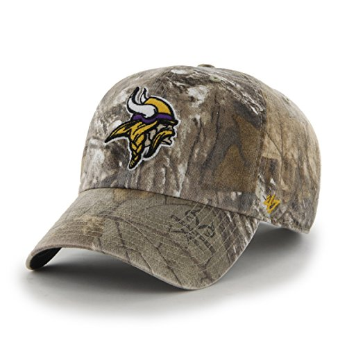 NFL Minnesota Vikings '47 Brand Big Buck Clean Up Adjustable Hat (Realtree Camouflage, One Size)