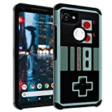 Google Pixel 2 XL Case, DURARMOR Vintage Nintendo NES Game Controller Dual Layer Hybrid Case ShockProof Slim Fit Armor Drop Protection Cover for Google Pixel 2 XL (2017), NES
