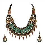 Product review for Zephyrr Fashion Junk Handmade Tibetan Multi Strand Choker Necklace Earrings Set