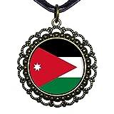 GiftJewelryShop Bronze Retro Style Jordan flag Flower Pendant Charm Necklaces #21