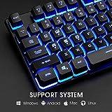 Rii Gaming Keyboard and Mouse Set, 3-LED Backlit