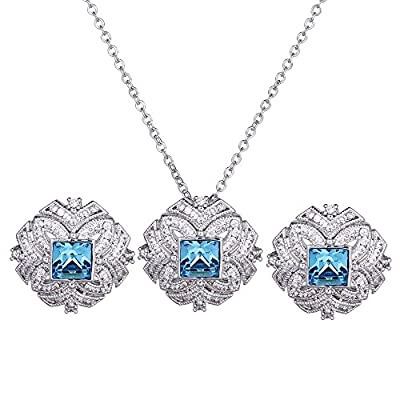 Nice Xuping Elegance Necklace Earrings with Box Crystals from Swarovski Jewelry Set for Women Thanksgiving Day Black Friday