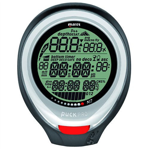 Mares Puck Pro Wrist Dive Computer - Red by Mares (Image #3)