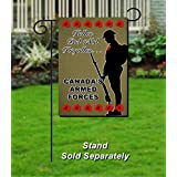 """Canadian Armed Forces Remembrance Day Poppies - 12"""" X 18"""" Home & Garden Decoration Flag. Individually Handcrafted and Ships from Cornwall, Ontario, Canada."""