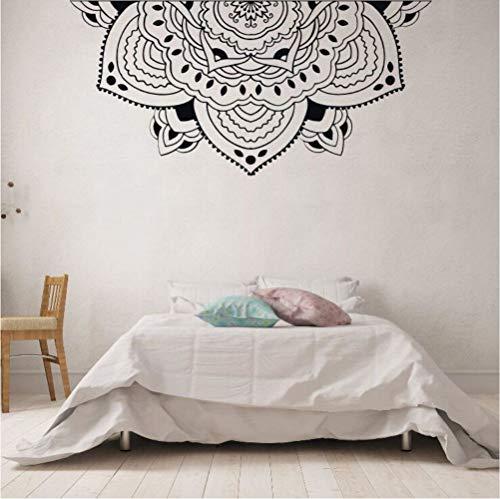 Ponana Decoración Del Hogar Medio Mandala Tatuajes De Pared Meditación Estilo Dormitorio Mural De Pared Medio Mandala...
