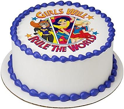 Personalised Superhero Comic Super Hero Boy Edible Icing Birthday Cake Topper