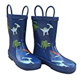 Foxfire for Kids Dark Blue with Dinosaurs Rubber Boots Size 11