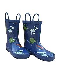 Foxfire for Kids Blue Dinosaur Rain Boots