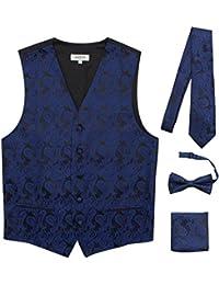 Premium Men's 4-Piece Paisley Vest for Sleek Looks On Formal Occasions
