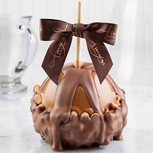 Chip Gourmet Caramel Apple - Peanut Butter Chip Caramel Apple w/ Milk Belgian Chocolate