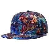 Men's Flat Bill Hats Dragon 3D Print Hat Adjustable Snapback Hats Hip Hop Cap