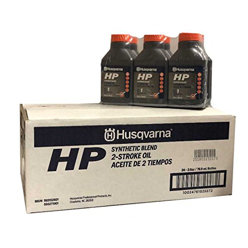 Husqvarna Case Of 2.6 oz HP Synthetic Blend 2-Cycle Engine Oil 593152601 24 Bottles