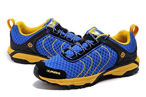 Senximaoyi Prévenir Glissant Résistant À Lusure Camp Chaussures De Randonnée Voyage Alpinisme Chaussures De Jogging, Bleu Clair, 9.5