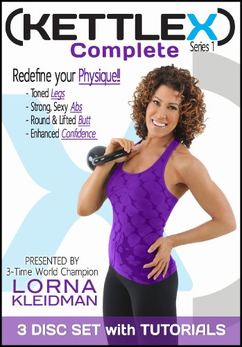 KettleX Complete 3-DVD Workout Package with Lorna Kleidman (Tutorials Included)