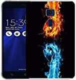 Snoogg Cool And Hot Fist Designer Protective Back Case Cover For ASUS ZENFONE 3 ZE520KL
