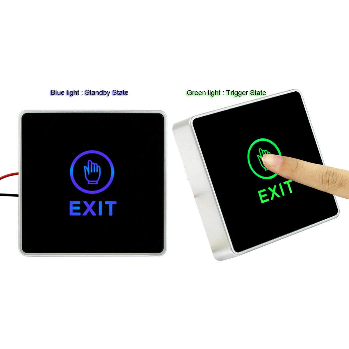 Lovely999 NewTouch Exit Button Switch Mechanical 500000 Times Release Button Switch for Door Access Control System LED Indicator