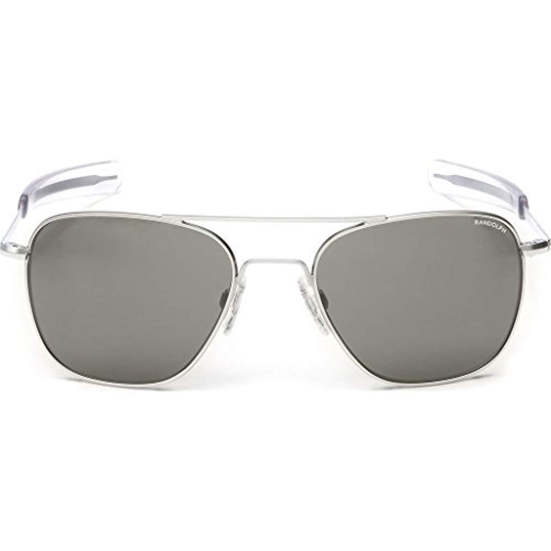 fe3de2c5729c Amazon.com: Randolph Aviator Matte Chrome Bayonet Temple Gray Non-Polarized  Sunglasses: Clothing