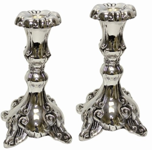 Majestic Giftware CS8009 Candle Sticks, 5-Inch, Silver Plated (Silver Candleabra)