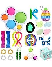 22Pcs Fidget Toys Pack, Sensory Fidget Toy Set for Focus & Calm, Relieve Stress Toy Set, Premium and Durable Stress Relief Toys for Kids Adults