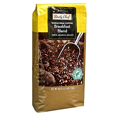 Daily Chef Coffee Breakfast Blend Rainforest Certified Whole Bean - 40 oz.
