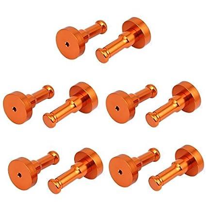 eDealMax baño de aluminio gancho de ropa Holder Robe Hook Ronda Orange 10pcs