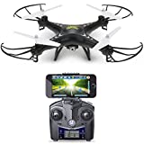Holy Stone HS110W FPV Drone with 720P HD Live Video Wifi Camera 2.4GHz 4CH 6-Axis Gyro RC Quadcopter with Altitude Hold, Gravity Sensor and Headless Mode Function RTF