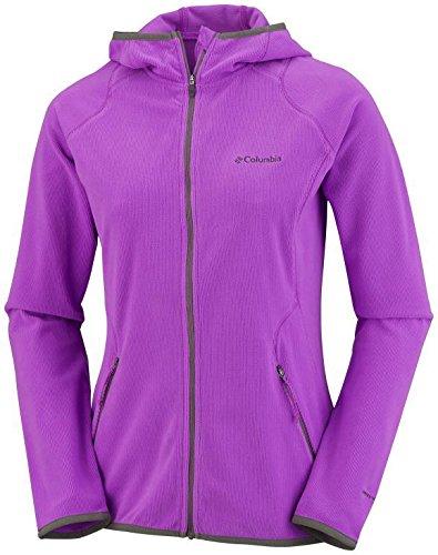 (Columbia Summit Rush Full Zip Hoodie, Womens Fleece, Foxglove Purple, XS)