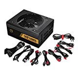 Gorgii 1600W Modular Power Supply For 6 GPU Eth Rig Ethereum Coin Mining Miner Machine (Black)