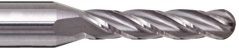 AlTiN Monolayer Finish Metric 14mm Shank Diameter Melin Tool CCMG-M-M-B Carbide Ball Nose End Mill 89mm Overall Length 4 Flutes 14mm Cutting Diameter 30 Deg Helix