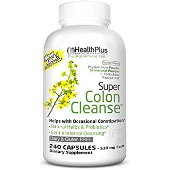 Health Plus Super Colon Cleanse: 10-Day Cleanse -Detox | 6 Cleanses, 240  Capsules