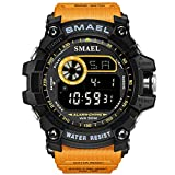 Watch VOEONS Digital Watch, 165FT Waterproof Military Running Sports Watch for Men & Boys, Outdoor Work Wrist Watch - Alarm, Stopwatch, Back Light - Orange