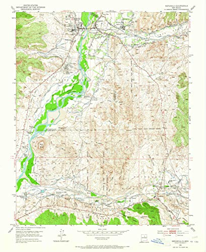 YellowMaps Espanola NM topo map, 1:24000 Scale, 7.5 X 7.5 Minute, Historical, 1953, Updated 1965, 27 x 22.1 in - ()