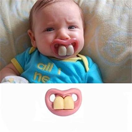Fashion Funny Baby chupete maniquíes chupete Prank novedad ...