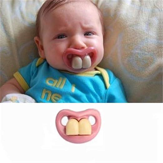 Amazon.com: Moda divertido chupetes chupete bebé chupete ...