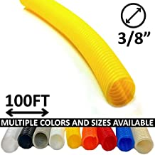 "3/8"" Split Wire Loom Tubing - Color: Yellow - 100 Feet"