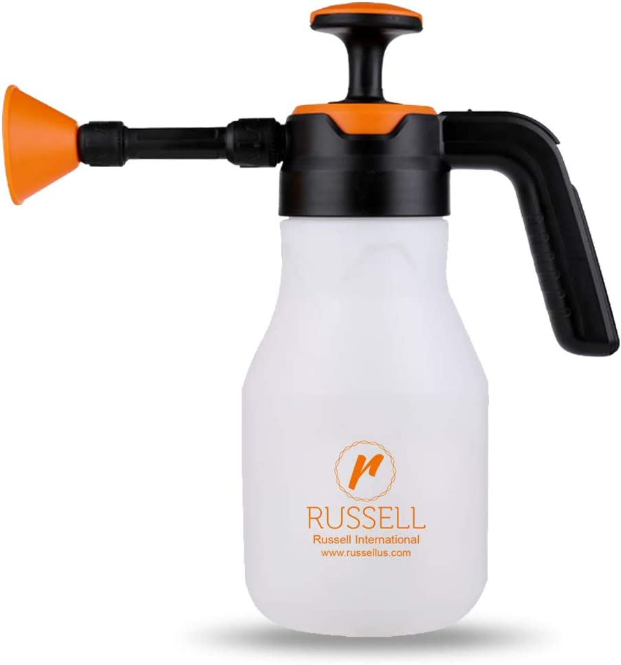 Russell-1120, 2.0, Liter, Heavy Duty Multi Sprayer, Handheld with Adjustable Nozzle, Hand Operated Sprayer, Ergonomic Grip, Gardening, Fertilizer, Window Tint Cleaning, Spraying with Mist Option