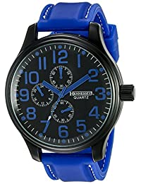 Hennessey Time Men's MR4015 Analog Display Analog Quartz Blue Watch