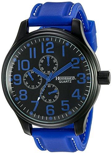 Hennessey Time Men's MR4015 Analog Display Analog Quartz Blue Watch