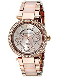 Michael Kors Parker MK6110 Women's Wrist Watches, Gold Dial