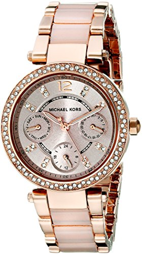 Mini Bracelet Watch (Michael Kors Women's Mini Parker Two-Tone Watch MK6110)
