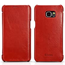 Galaxy S6 Edge Plus Case, Benuo [Vintage Series] - Handcrafted 100% Genuine Leather Case (Red, Vintage)