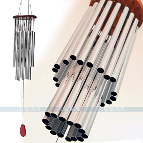 - Charming Wind Chimes Modern Double Layer Redwood 27 Tubes Copper Yard Garden Outdoor Living