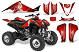 CreatorX Suzuki Ltz 400 2003-2008 Graphics Kit Decals You Rock Red