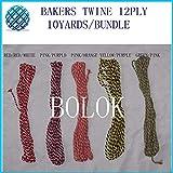 FINCOS 1000pcs/lot Cotton Bakers Twine 12ply 10yards/Bundle Blue Cotton Twine 42 Color wholesales
