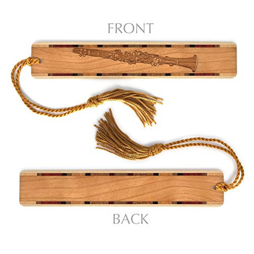 Instrument Musical Clarinet (Musical Instrument - Clarinet Engraved Wooden Bookmark with Tassel - Personalized version also available - search B073V9LFG6.)